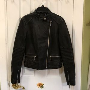 Michael Kors Quilted Leather Jacket (new)